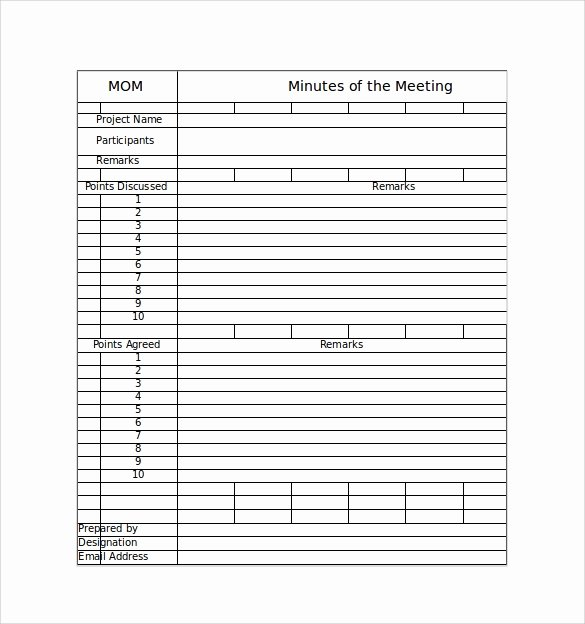 Excel Meeting Minutes Template New 44 Sample Meeting Minutes Template Google Docs Apple