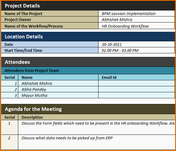 Excel Meeting Minutes Template Unique 12 Meeting Minutes Template Excel