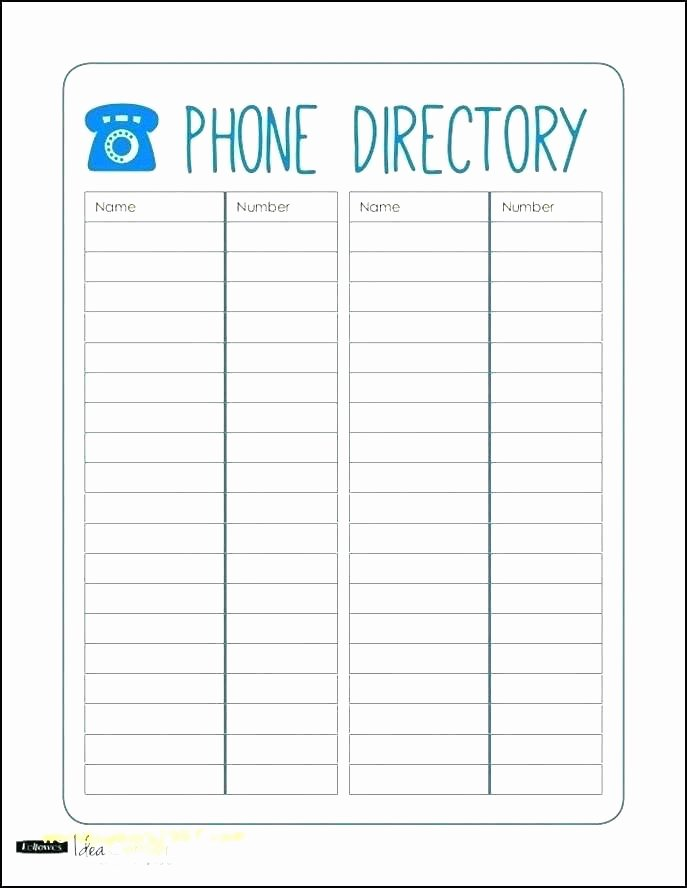 Excel Phone List Template Beautiful Phone List Template E Excel Simple Business Contact