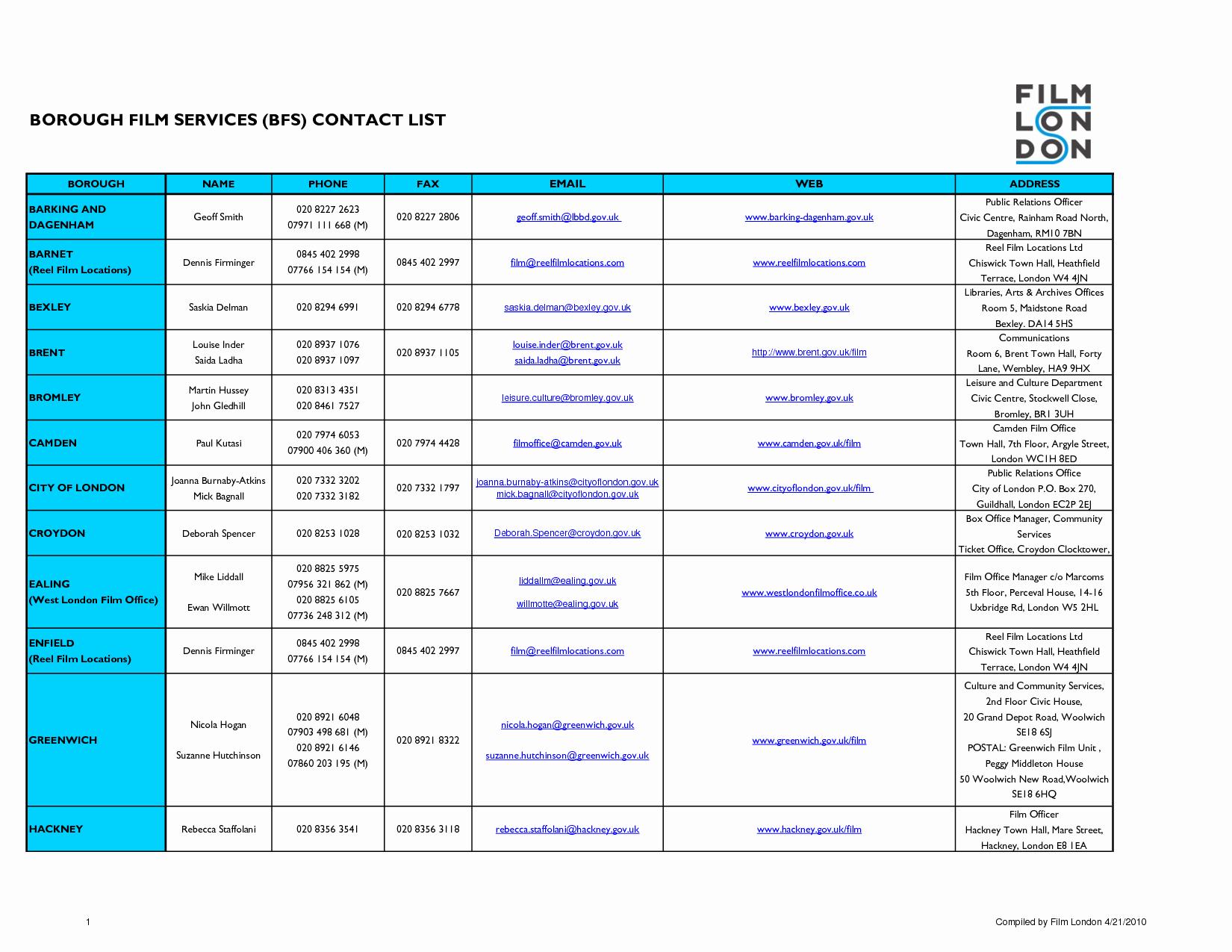 Excel Phone List Template Unique Contact List Excel Template Portablegasgrillweber