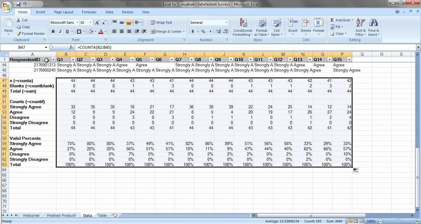 Excel Survey Results Template Elegant Sample Excel Survey Template Survey Spreadsheet Template