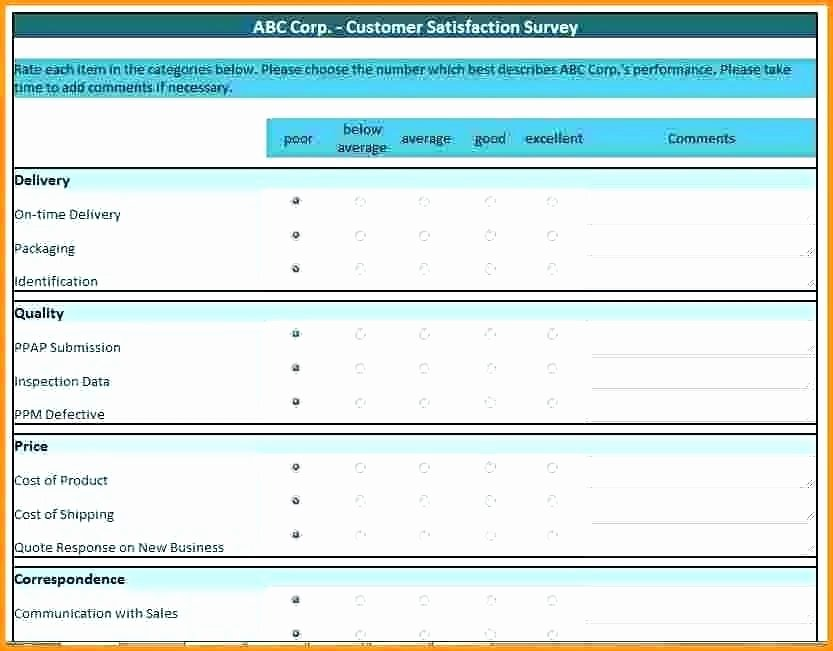 Excel Survey Results Template Fresh Excel Survey Results Template Excel Survey Results