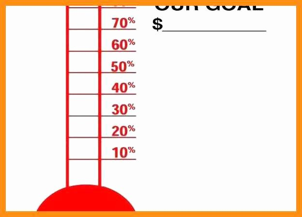 Excel thermometer Chart Template Beautiful 10 11 Fundraising Goal Tracker