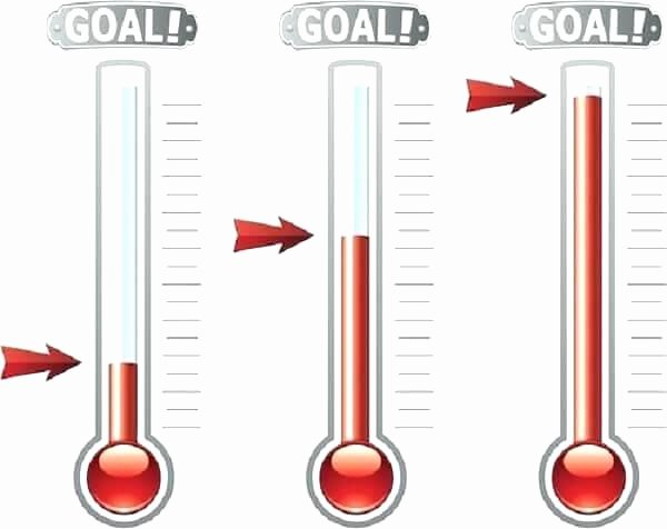 Excel thermometer Chart Template Elegant Fundraising thermometer Template Excel thermometer Goal