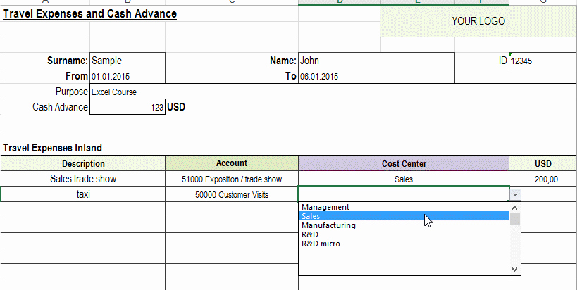Excel Travel Expense Template Inspirational Excel Travel Expense Report Template Free Detailed
