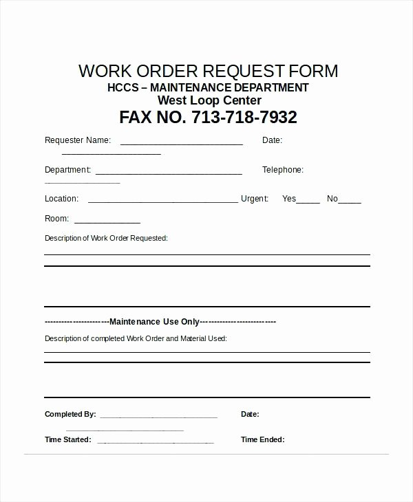 Excel Work order Template Elegant Excel Request form Cheque Requisition Template Check Work