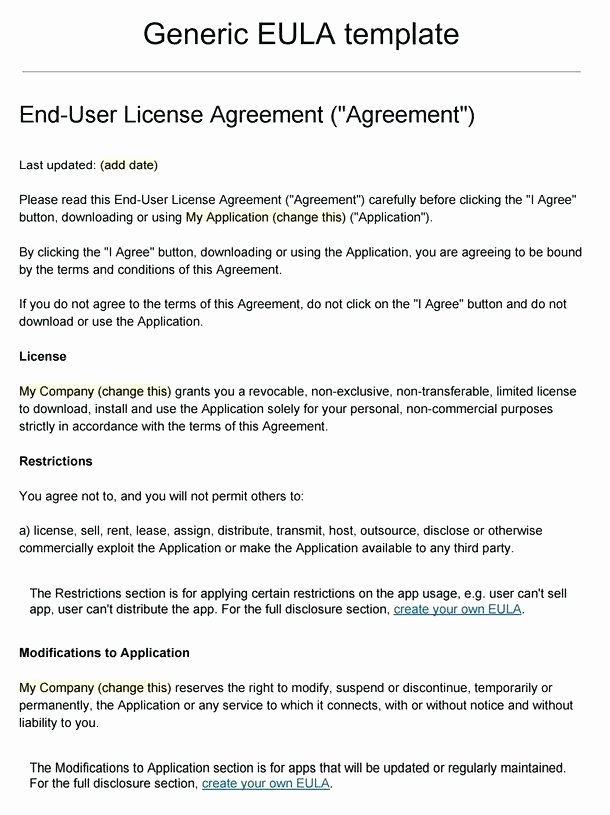 Exclusive License Agreement Template Awesome Exclusive software License Agreement Template Content