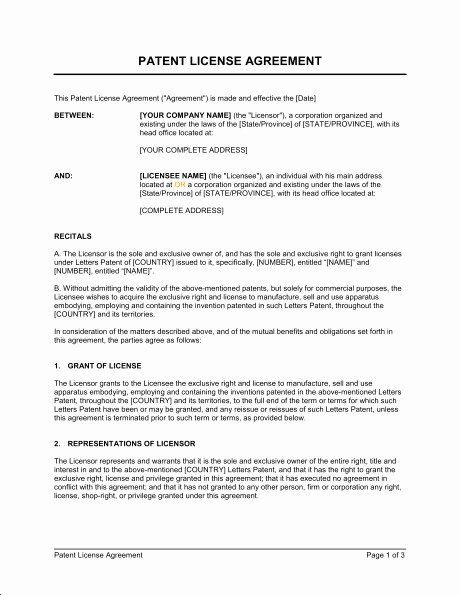 Exclusive License Agreement Template Elegant Exclusive Sales Agent Agreement Template Templates