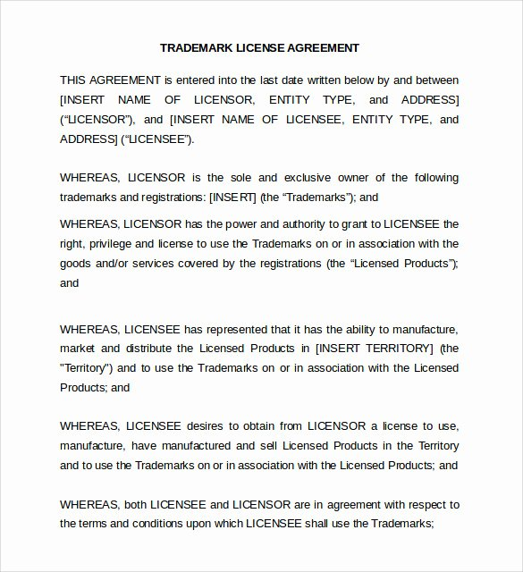 Exclusive License Agreement Template Inspirational 8 License Agreement Samples Templates Examples