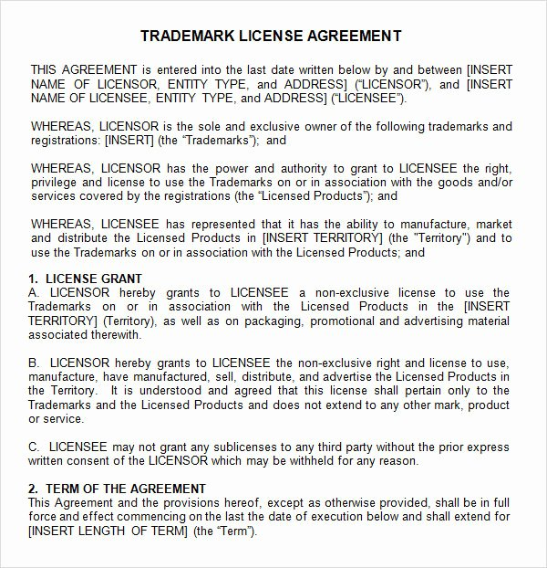 Exclusive License Agreement Template New 12 License Agreement Templates Download for Free