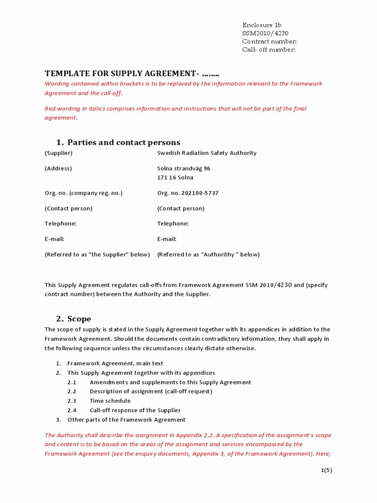 Exclusive Supplier Agreement Template Beautiful 32 Elegant Supply Agreement Template Co N