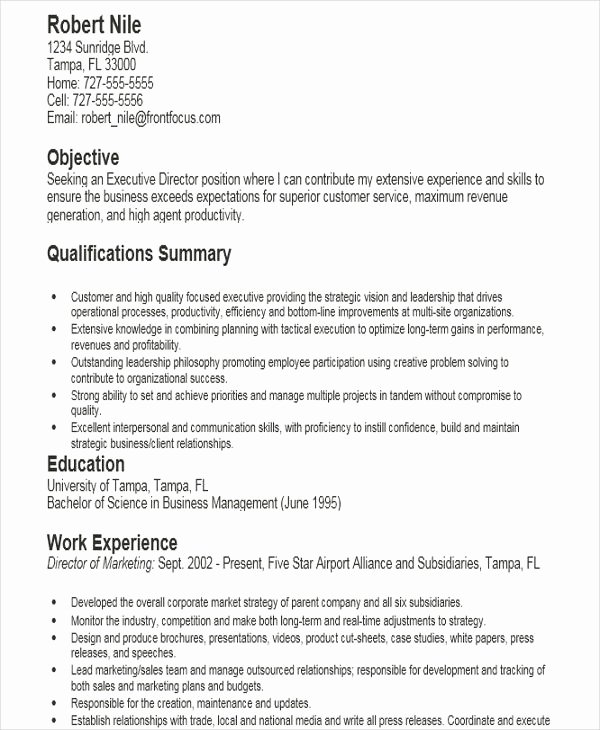 Executive Director Resume Template Best Of 32 Modern Executive Resume Templates