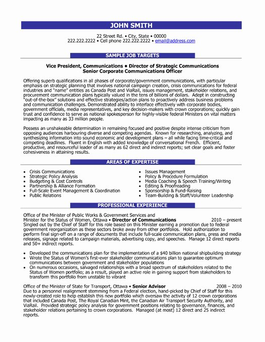 Executive Director Resume Template Best Of Munication Director Resume Sample & Template