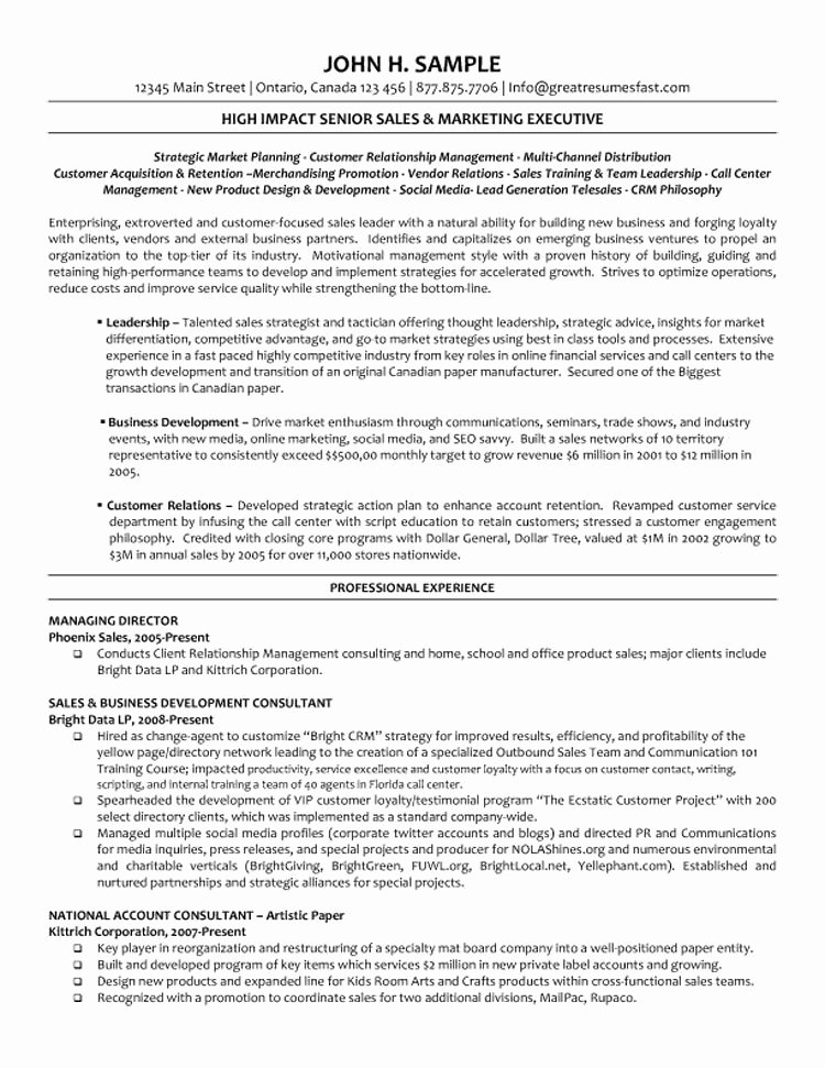 Executive Director Resume Template Fresh Executive Managing Director Resume