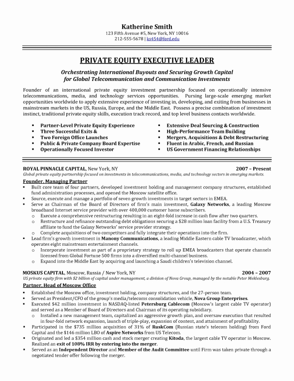 Executive Director Resume Template Lovely Executive Resume Samples