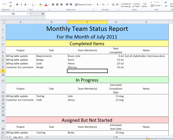 Executive Status Report Template Best Of Get Project Status Report Template Excel – Exceltemple