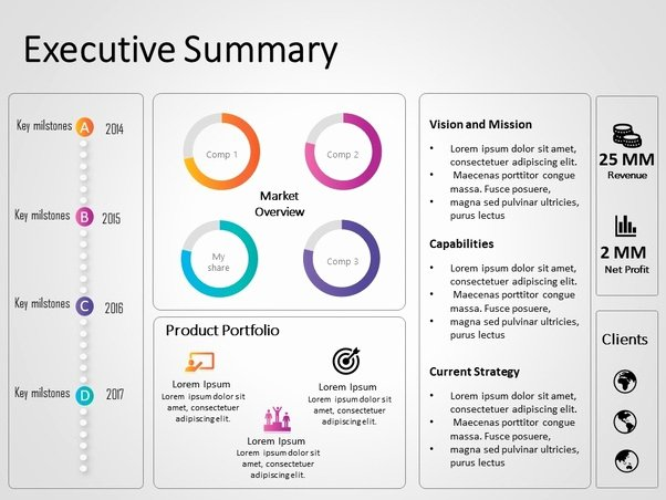 Executive Summary Powerpoint Template Beautiful What are some Good Examples Of Executive Summary for An It