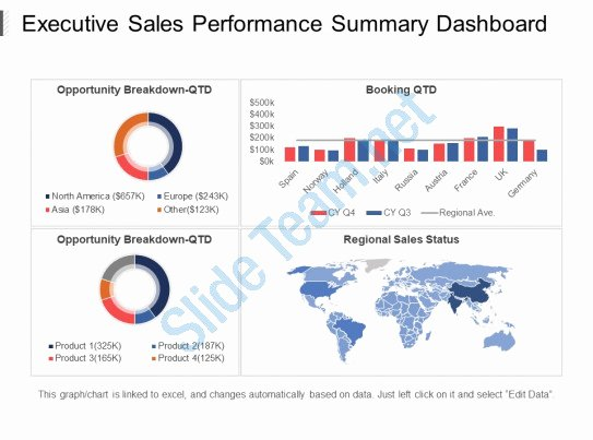 Executive Summary Powerpoint Template Elegant Executive Sales Performance Summary Dashboard Ppt Slide