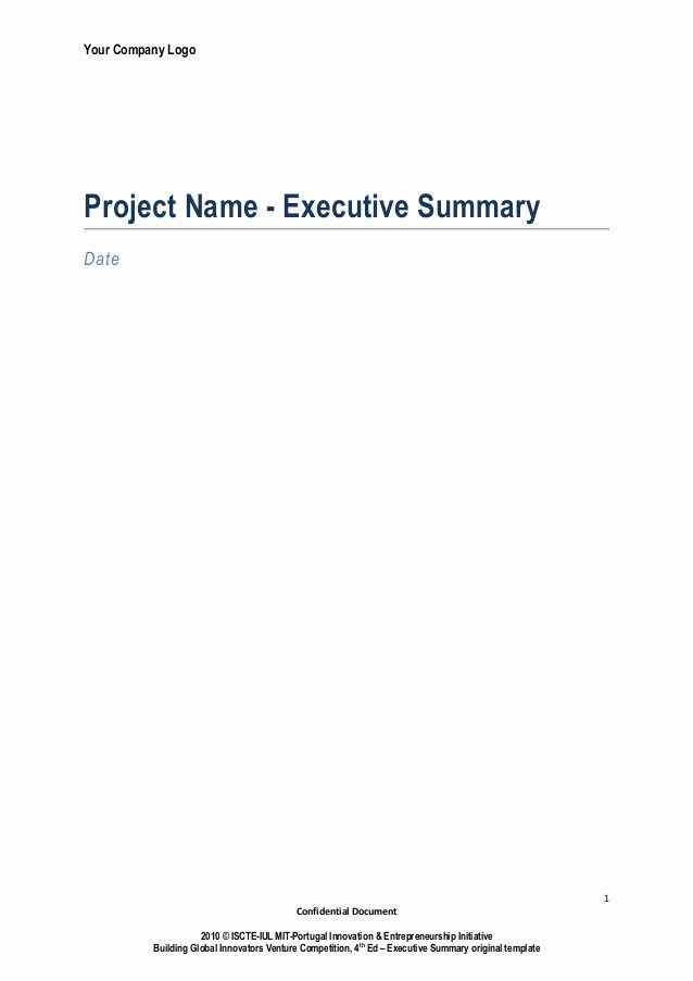 Executive Summary Powerpoint Template Lovely Executive Summary Template