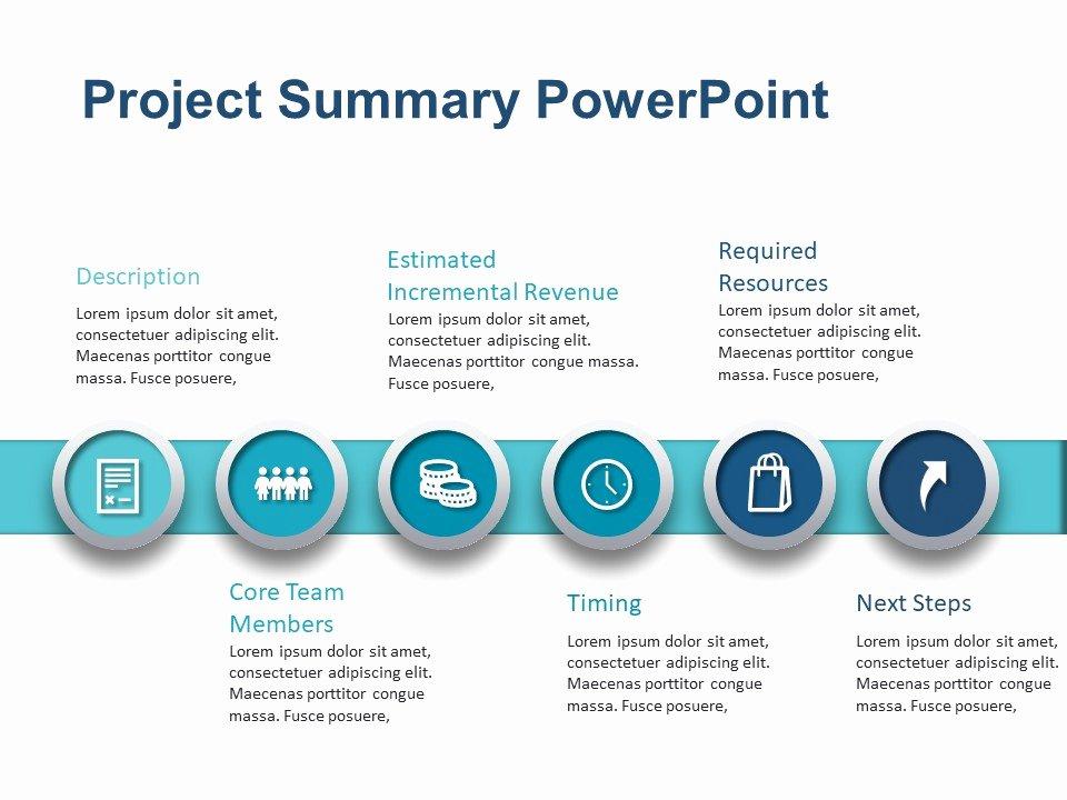Executive Summary Powerpoint Template New Project Summary Powerpoint Template 2