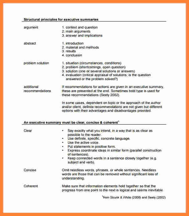 Executive Summary Template Pdf Lovely 7 Executive Summary Report Example Template