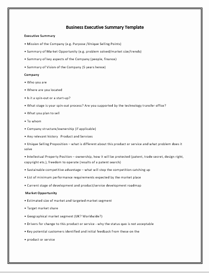 Executive Summary Template Pdf New 10 Executive Summary Templates