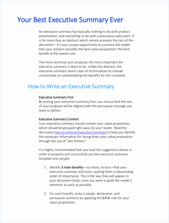 Executive Summary Template Ppt Awesome 5 Executive Summary Templates for Word Pdf and Ppt