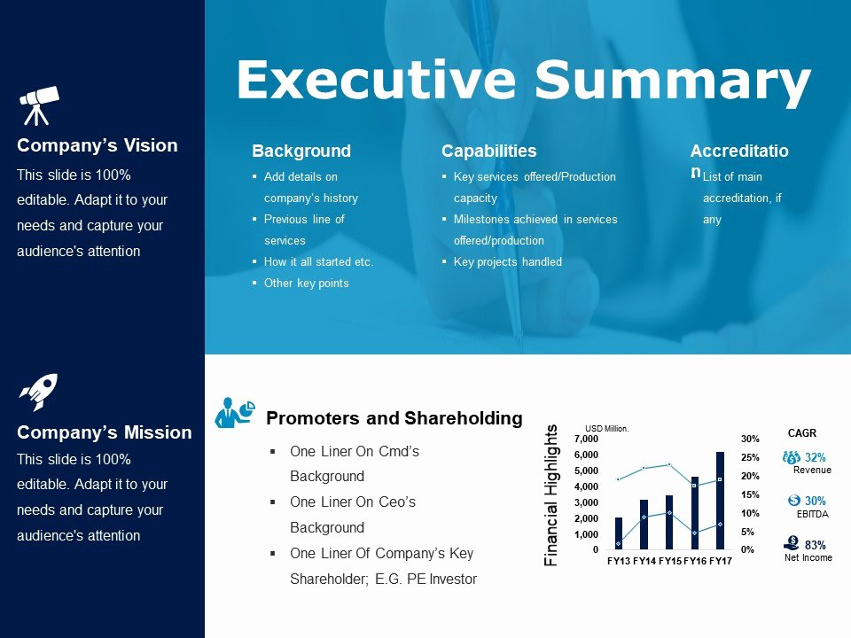Executive Summary Template Ppt Awesome Executive Summary Powerpoint Slide Deck