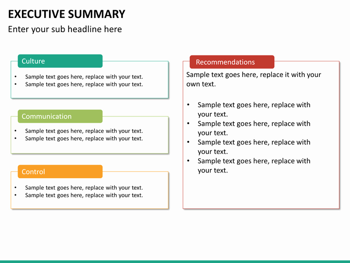 Executive Summary Template Ppt Fresh Executive Summary Powerpoint Template
