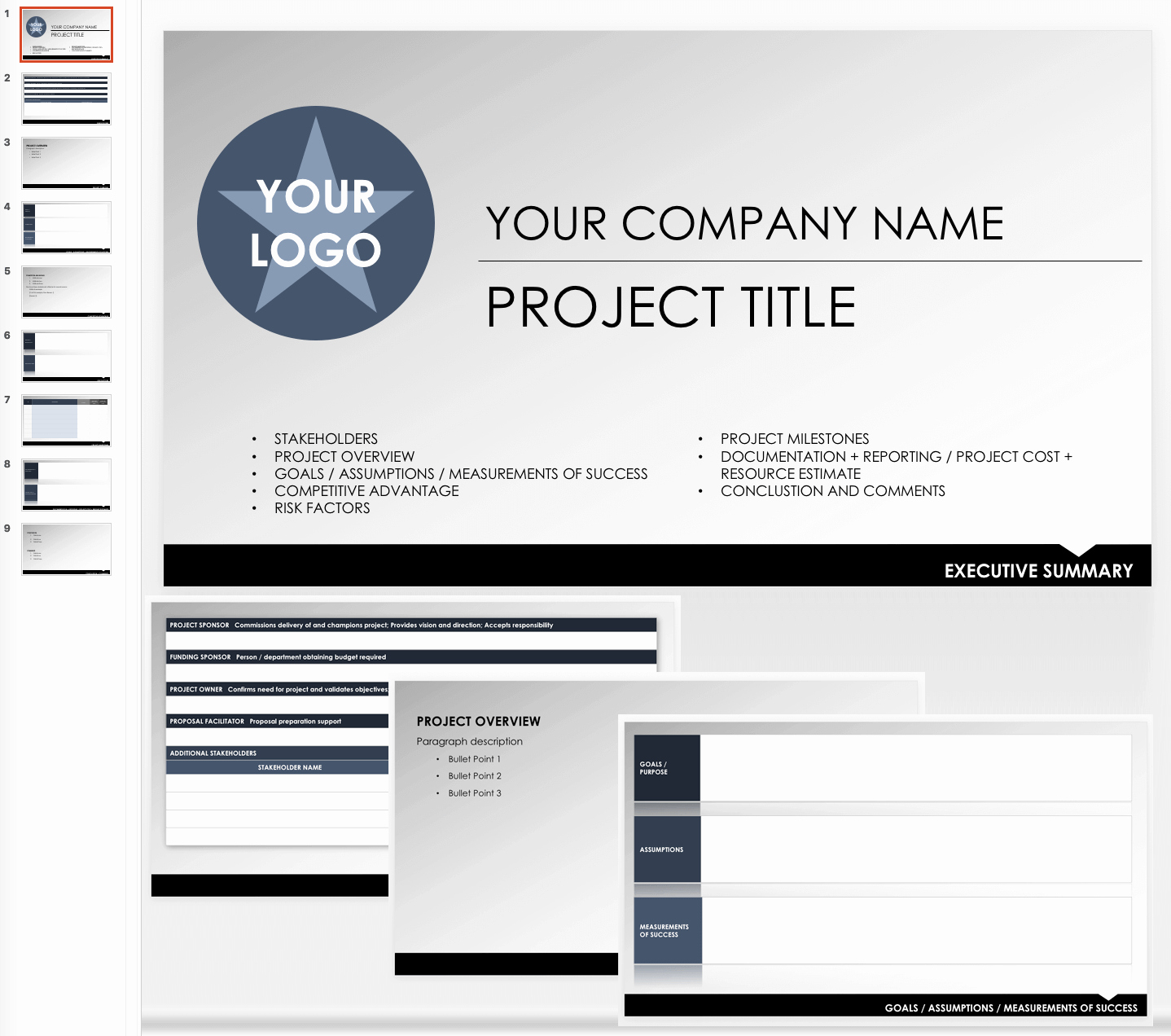 Executive Summary Template Ppt Unique Free Executive Summary Templates