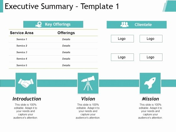 Executive Summary Template Ppt Unique Project Executive Summary Template Ppt