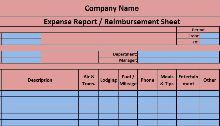 Expense Report Template Excel Elegant Download Free Accounting Templates In Excel