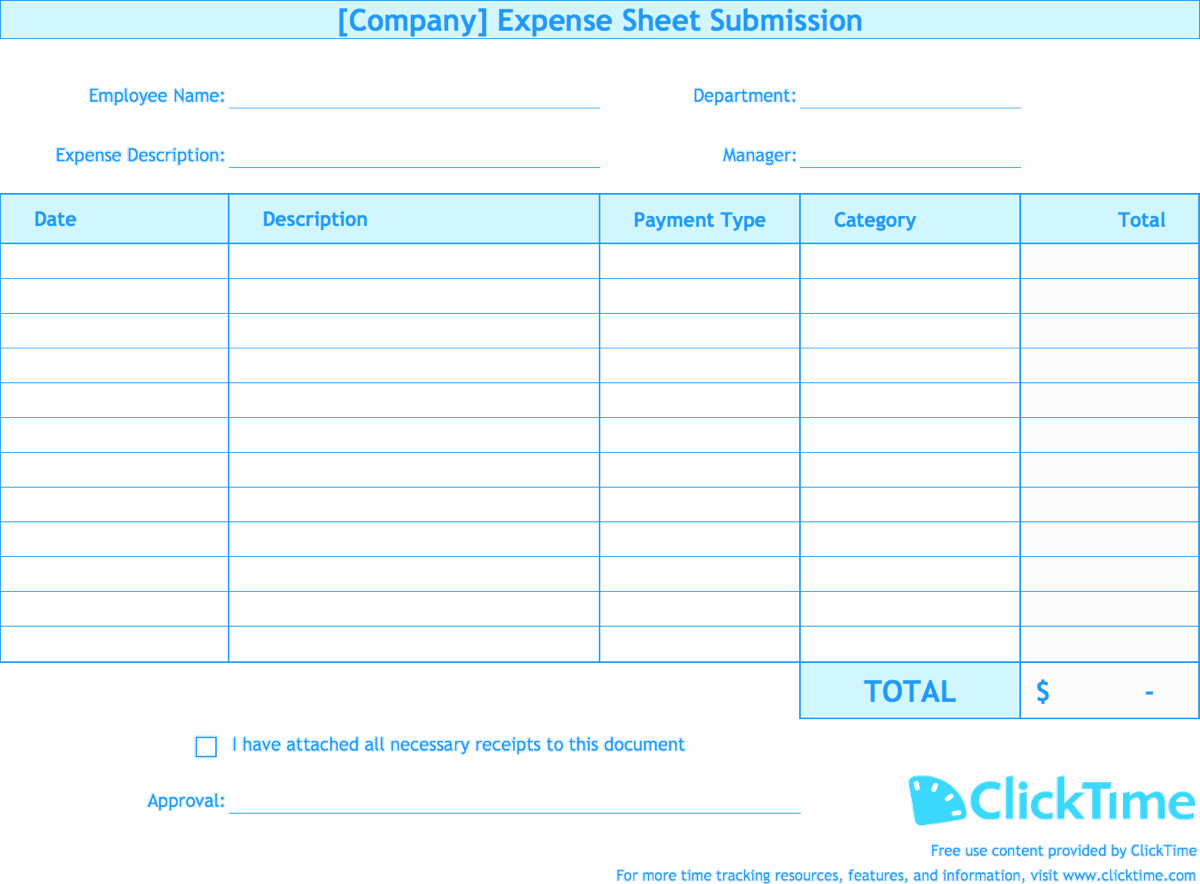 Expense Report Template Excel Unique Expense Report Template