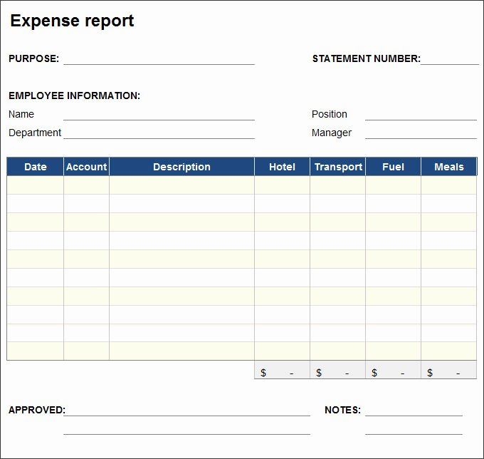 Expense Report Template Free Beautiful 27 Expense Report Templates Pdf Doc