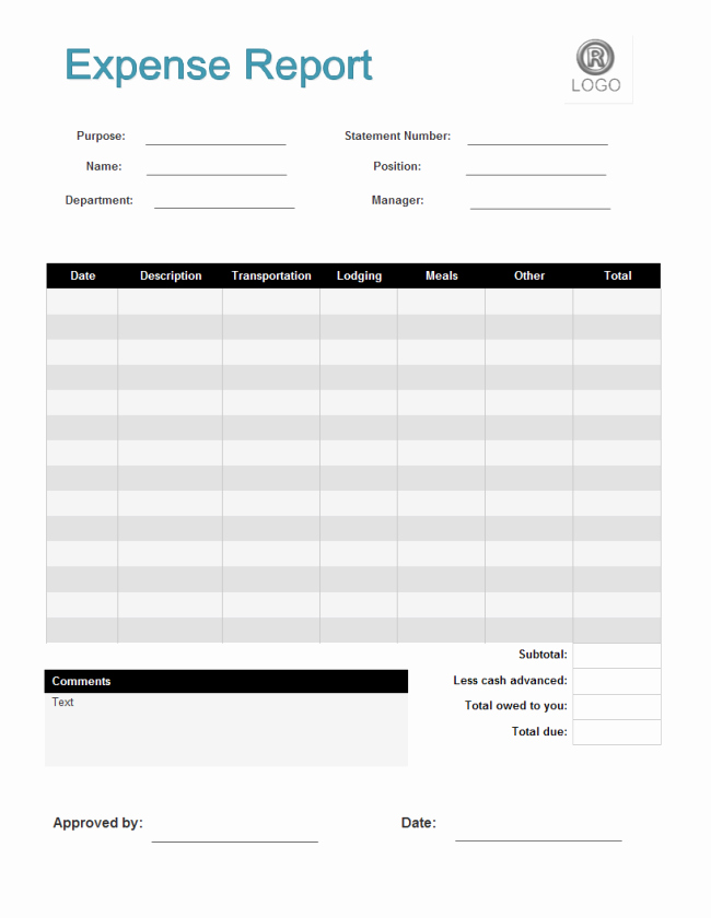 Expense Report Template Free Best Of Expense Report form