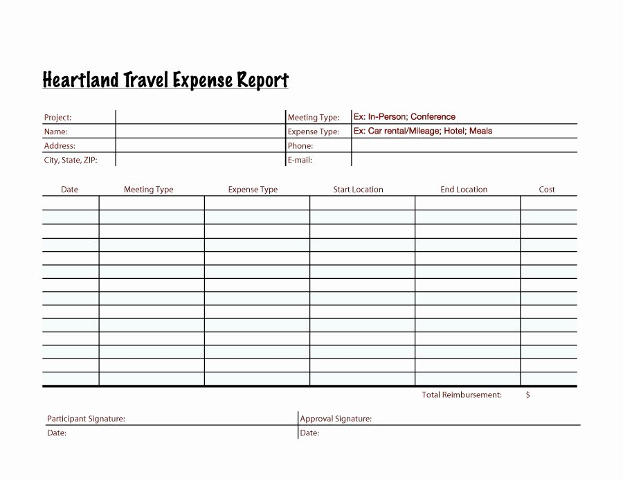 Expense Report Template Free Inspirational 40 Expense Report Templates to Help You Save Money
