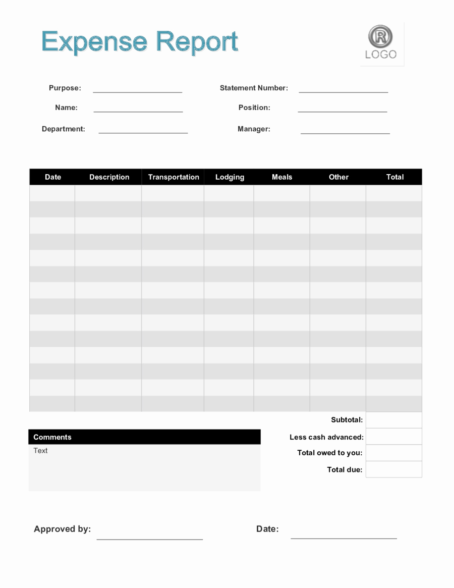 Expense Report Template Free Lovely 2018 Expense Report form Fillable Printable Pdf & forms