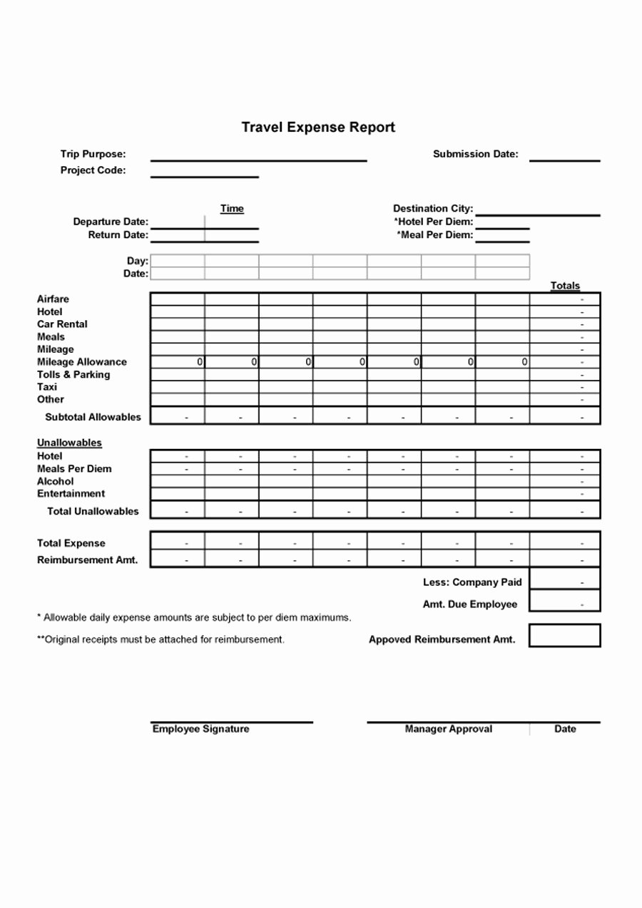 Expense Report Template Free New 40 Expense Report Templates to Help You Save Money
