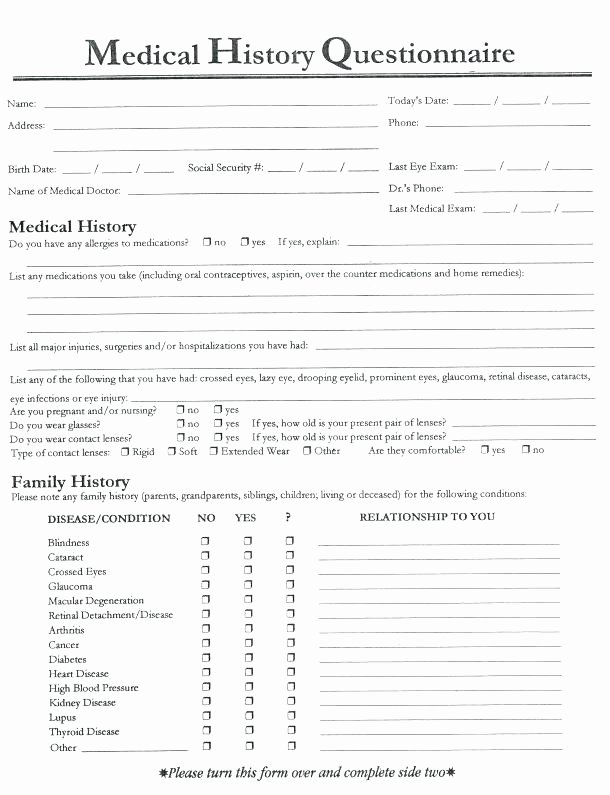 Eye Exam forms Template Awesome New Gallery Sample Physical Exam form Template Inspiration