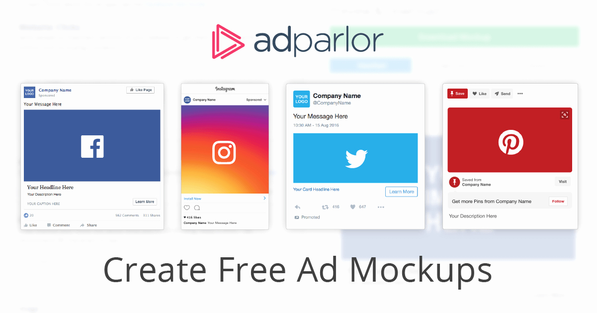 Facebook Ad Template Psd Awesome Ad Mockup Generator