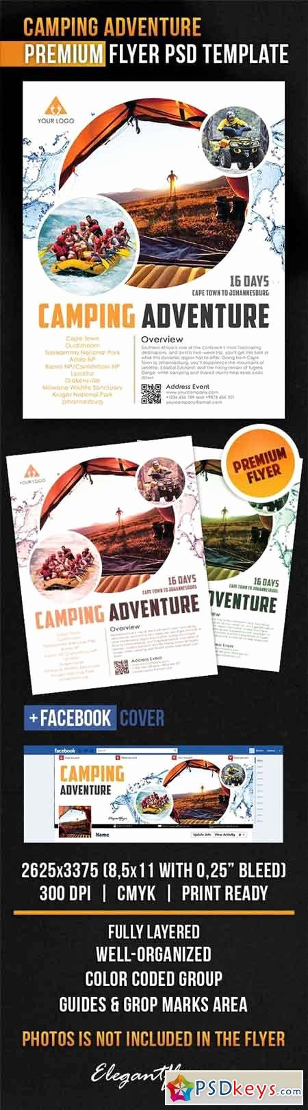 Facebook Ad Template Psd Awesome Camping Adventure – Flyer Psd Template Cover