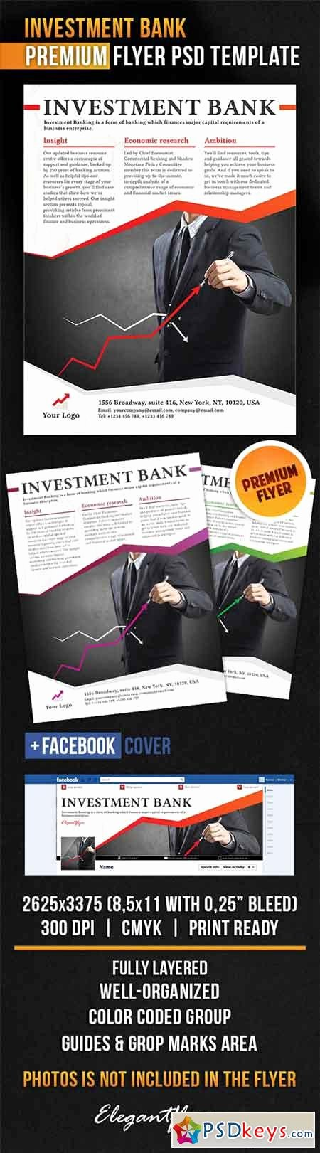 Facebook Ad Template Psd Awesome Investment Bank Flyer Psd Template Cover Free