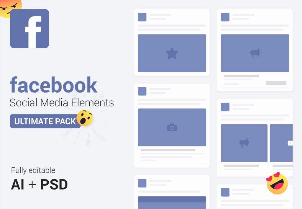Facebook Ad Template Psd Elegant Free social Media Mockups Templates Ad Template