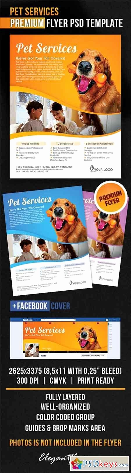 Facebook Ad Template Psd Fresh Pet Services Flyer Psd Template Cover Free