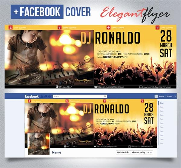 Facebook Ad Template Psd Lovely 50 Free Party Club event Psd Flyer Templates Techclient