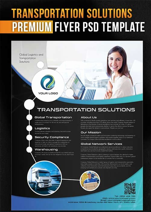 Facebook Ad Template Psd Lovely Transportation solutions Flyer Psd Template