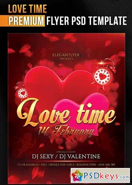 Facebook Ad Template Psd Luxury Love Time Flyer Psd Template Cover Free