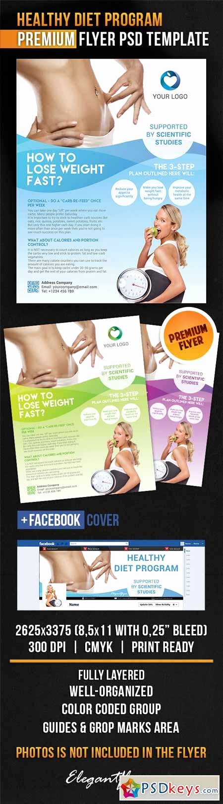 Facebook Ad Template Psd Unique Healthy Diet Program – Flyer Psd Template Cover