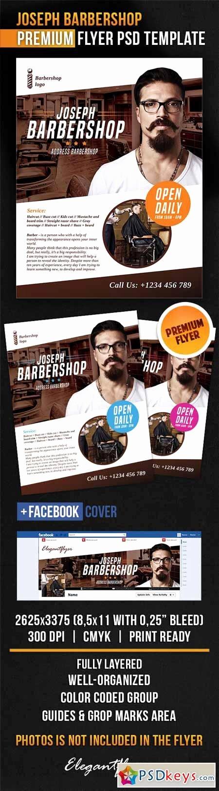 Facebook Ad Template Psd Unique Joseph Barbershop – Flyer Psd Template Cover