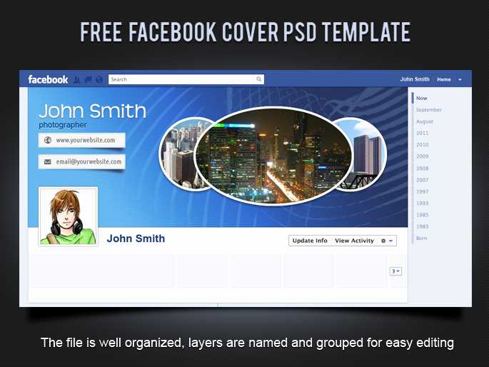Facebook Cover Photoshop Template Awesome 19 Splendorous Timeline Covers Psd Templates